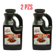 Duo Pack Salsa Hot Bbq Zafran 2.4 Kilos ( Pack 2 Pzs)