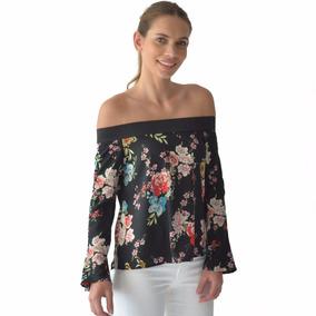 Blusa Mujer Flores Moderna Resorte En Hombros Rack & Pack