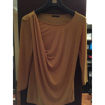 Blusa De Jersey Drapeada Color Maíz Tommy Hilfiger