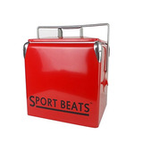 Sportbeats Metal Refrigerador Vintage 13l Ice Chest Durab...