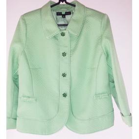 Vestido Conjunto Tailleur Verde Claro Festa Tamanho 44 46