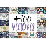 +700 Vectores Ilustraciones Tiernos - Illustrator