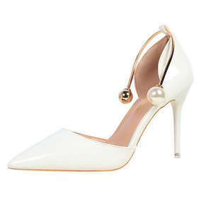 Sapato Salto Alto Feminino Estilo Argola E Perola Importado