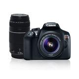 Cámara Canon Eos Rebel T6 Wifi Lente 18-55mm+ 75-300mm+ Sd16