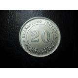 Moneda China Provincia De Kwang-tung 20 Centavos Plata