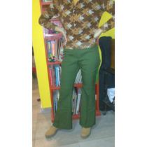 Retro Vintage Años 70 Pantalón Oxford Talle 38