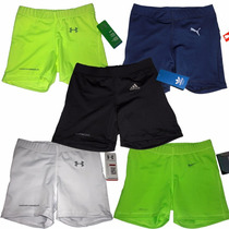 Short Puma, Nike, Adidas, Under Armour Dama 100% Lycra