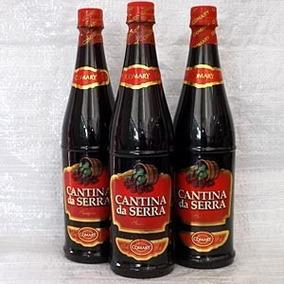 Vinho Cantina Da Serra Kit 3 Garrafas De 880ml Frete Grátis