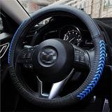 Vesul Blue Steering Wheel Glove Leather Cover For Mazda 3 A