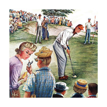 Distracted Pro Golfer Painting Print On Canvas By Constant