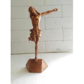 Figura De Resina.el Cristo Roto Tipo Metal.