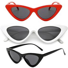 Óculos De Sol Feminino Retrô Gatinho Estiloso Proteção Uv