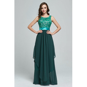 Vestido Verde Renda Formanda Madrinha Festa Convidada Pronta