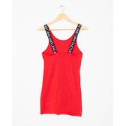Vestido Corto Rojo Con Tiras Mujer Básico Dama Moda Verano