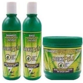 Kit Crece Pelo Shampoo + Condicionador + Máscara Crecepelo