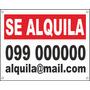 Cartel Se Vende O Alquila Casa Apartamento 50x40cm En El Día
