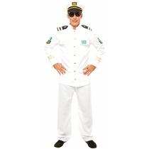 Fantasia De Almirante Da Marinha,marinheiro,capitão,carnaval