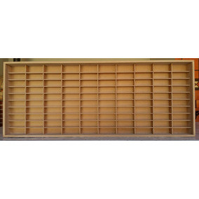 Estante Slim P/ Carrinhos 100 Nichos 1.64 Mdf S/ Porta