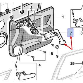 Puxador Da Porta Dianteira Lado Esquerdo Astra 2001 Ate 2011