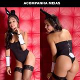 Fantasia Coelha Playboy - Body Lingerie - Coelhinha Sexy