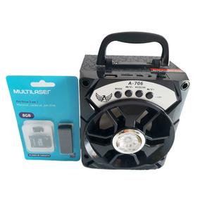 Mini Caixa Radinho Fm Som Portátil Mp3 Usb Bluetooth Speaker