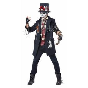 Disfraz Adulto Voodoo Esuqeleto Traje Calavera Muerte Catrin