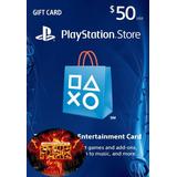 Tarjeta Playstation Card 50 Usd Psn Ps4, Psvita, Ps3