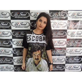 Camiseta Pablo Escobar Rei Trafico Camisa Unissex El Patrão