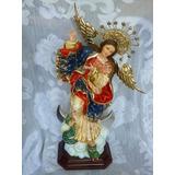 Virgen De Quito En Madera