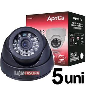 Kit 5 Unid Cameras Dome P/ Dvr Infra Vermelho 24 Led Linhas
