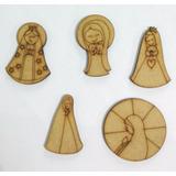 Figuras Fibrofacil Angel Virgencita Comunion Souvenir