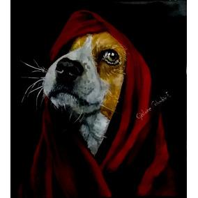 Pitura Em Tela- Tinta Acrílica. Cachorro