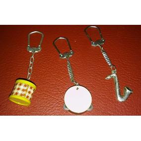 Chaveiro Miniatura Instrumentos Musicais Tambor Pandeiro