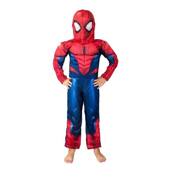 Spiderman Disfraz Hombre Ara?a Musculos Newtoys Original Edu