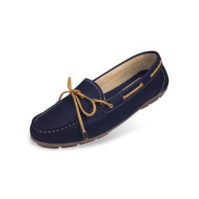 Zapato Mocasín Mega Para Dama 1682 Azul