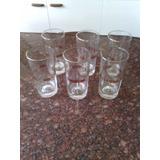 Juego De 6 Vasos En Vidrio Decorados