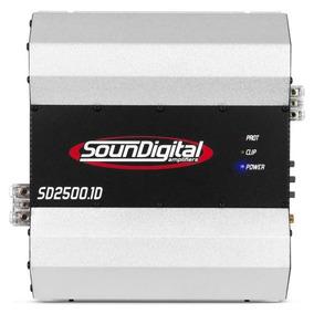 Modulo Amplificador Soundigital Sd2500 + Cabo Rca 5 Metros
