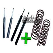 Kit X4 Amortiguadores Espirales Traseros Fiat Tempra Oro