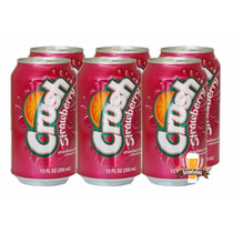 Refrigerante Crush Strawberry Morango - Caixa 06 Latas 355ml