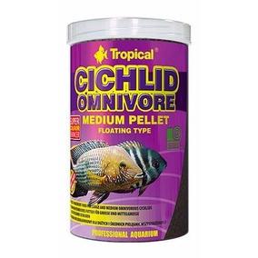 Ração Peixe Cichlid Omnivore Medium Pellet 360g Tropical