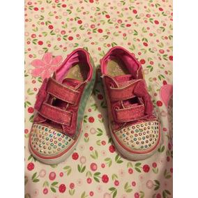 Zapatillas Importadas Nena Con Luces- Skechers