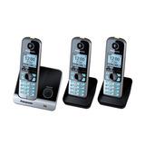 Telefone Sem Fio Panasonic Dect 6.0 Kx-tg6713lbb 3 Monofones