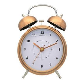 Relogio Mesa Despertador Copper Nextime 21,5x15cm