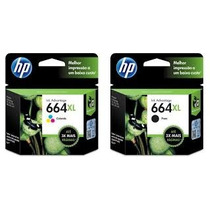 Kit De Cartucho Hp 664xl Preto E Color Original