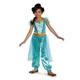 Jasmine Deluxe Princesa De Disney Aladdin Vestuario, Pequeño