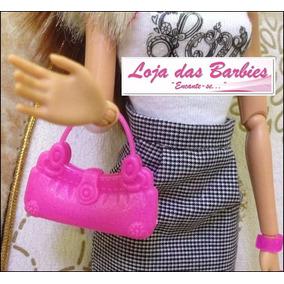 Bolsa Fashion Rosa Para Boneca Barbie / Susi / Blythe * F07