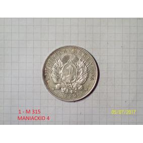 Patacon 1 Peso 1882 Plata Sin Circular