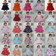 Kit Atacado Com 20 Vestidos De Bebê Reborn Boneca Katitus