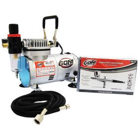 Kit Aerografo Profesional Goni Compresor Mang + Envío Gratis
