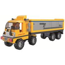 Brinquedo Blocos Montar Da Xalingo Cidade Em Obras Caminhão